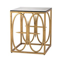 Dimond Home Amal End Table in Antique Gold Leaf