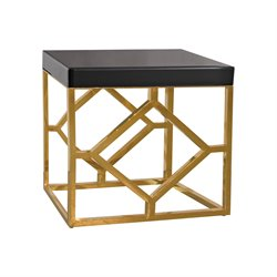 Dimond Home Beacon Towers End Table in Gold and Black