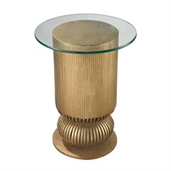 Dimond Home Sock Bun End Table in Antique Gold Leaf