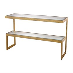 Dimond Home Key Console Table in Antique Gold Leaf
