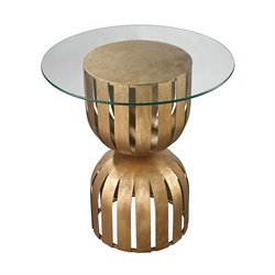 Dimond Home Olympia End Table in Antique Gold Leaf