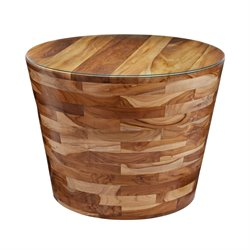 Dimond Home Teak Furniture End Table in Light Teak