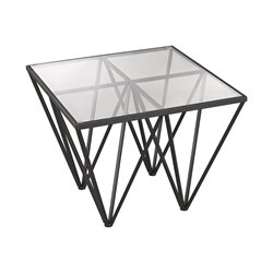 Dimond Home Geometric End Table in Dark Bronze