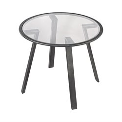 Dimond Home Geometric End Table in Pewter