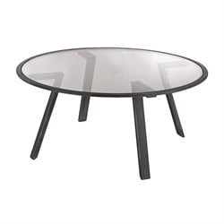 Dimond Home Geometric Round Coffee Table in Pewter