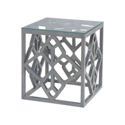Dimond Home Bain End Table in Antique Smoke