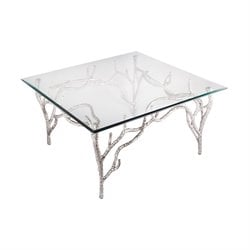 Dimond Home Metropolitan End Table in Polished Nickel