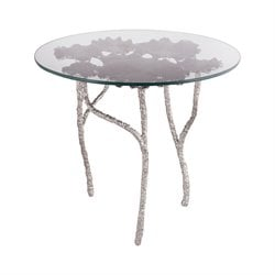 Dimond Home Victoria End Table in Antique Nickel