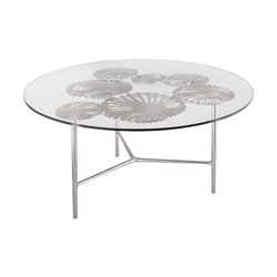 Dimond Home Victoria Round Coffee Table in Nickel