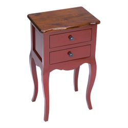 Sterling Amador Accent Chest in Light Brown and Red