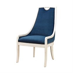 Sterling Constanzie Accent Chair in Capuccinno Foam and Navy