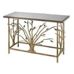 Sterling Rhyl Console Table in Bakewell Gold