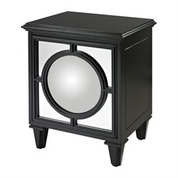 Sterling Mirage End Table in Matt Black