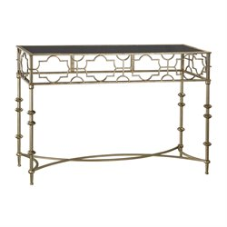 Sterling Console Table in Soft Gold
