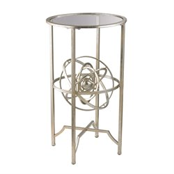 Sterling Accent Table in Aged Silver and Antique
