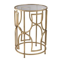 Sterling Accent Table in Gold