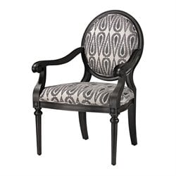 Sterling Ventnor Accent Chair in Silver and Gray