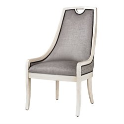 Sterling Stage Dining Chair in Silver Gray and White