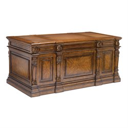 Sterling Partners Desk Executive Desk in Mid Tone Wood Stain