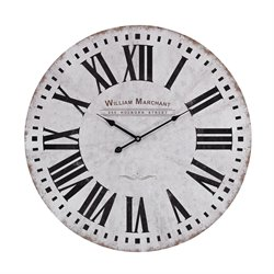 Sterling Wall Clock in White and Black