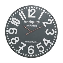 Sterling Wall Clock in Gray