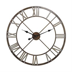 Sterling Wall Clock in Bronze and Gray