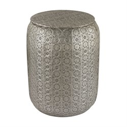 Sterling Foot Stool in Nickel