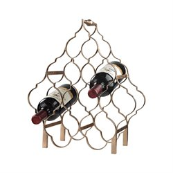 Sterling Wine Rack in Metallic