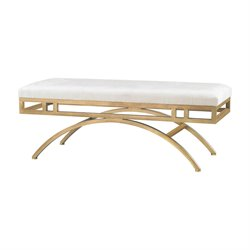 Sterling Miracle Mile Bench in Gold and Oyster