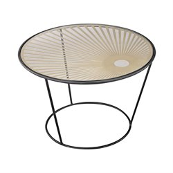 Sterling City Hall Accent Table in Gold and Black