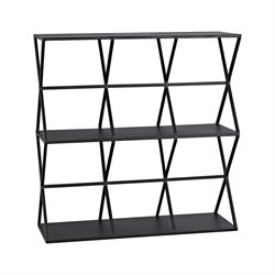 Sterling Triax 2 Shelf Bookcase in Black