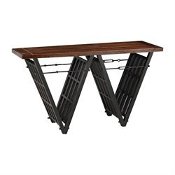 Sterling Console Table in Restoration Black and Walnut