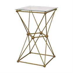 Sterling Geometry Accent Table in Gold