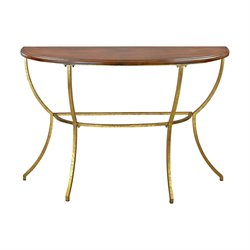 Sterling Balart Console Table in Walnut and Gold