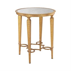 Sterling Alcazar Accent Table in Antique Gold and Antique Mirror