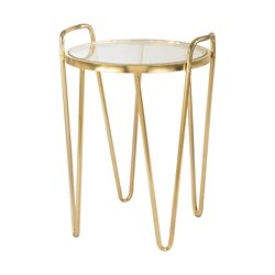 Sterling Via Rodeo Accent Table in Gold
