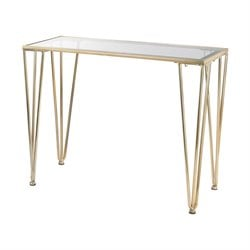 Sterling Ivy Chase Console Table in Gold