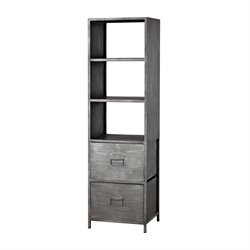 Sterling Gunther 3 Shelf Bookcase in Graphite