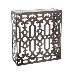 Sterling Demille End Table in Dark Bronze