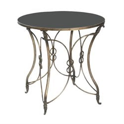 Sterling Table End Table in Black and Antique Silver