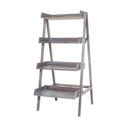 Sterling 4 Shelf Bookcase in Heritage Gray Stain White Wash