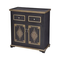 Sterling Medecci Accent Chest in Black and Gold