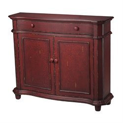 Sterling Forest Knolls Accent Cabinet in Red