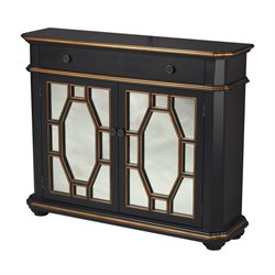 Sterling Cabinet Accent Cabinet in Black and Silver