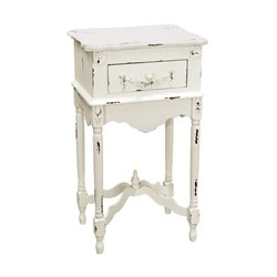 Sterling Table End Table in Distressed White