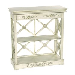 Sterling St. Thomas 2 Shelf Bookcase in Off White Antique