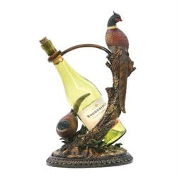 Sterling Autumn Pheasant Wine Holder in Natural