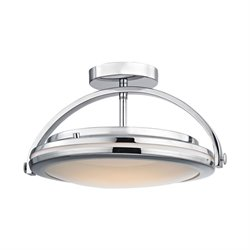 Alico Quincy LED Semi Flush Mount in Chrome