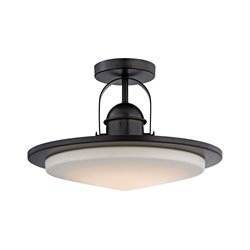 Alico Montebello LED Semi Flush Mount in Oiled Bronze