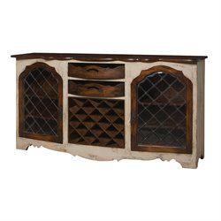 GuildMaster Wine Rack Buffet in Cream
